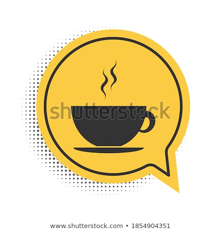coffee cup with speech bubbles stock photo © marish