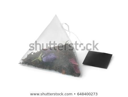 Tea bag on white background Stock photo © ozaiachin