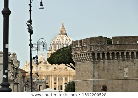 rome castel sant angelo 02 stock photo © lianem