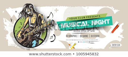 Muziek banner vector abstract eps10 bestand Stockfoto © kovacevic