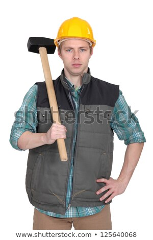 Builder stood with sledge-hammer Stock photo © photography33