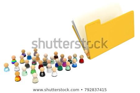 Symboliczny osobowych informacji około bezpieczeństwo danych Zdjęcia stock © prill