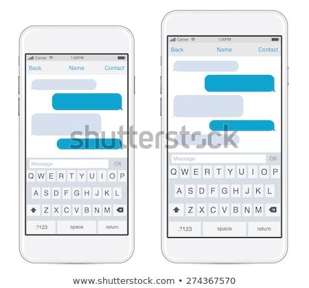 Dos móviles aplicaciones aplicación oficina Foto stock © bobbigmac