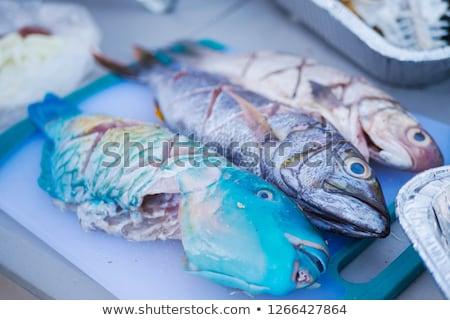 魚 · 槍 · 厳しい尋問 · バーベキュー · 新鮮な - ストックフォト © franky242