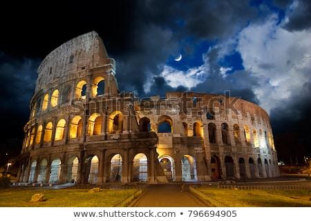 coliseum at night rome   italy stock photo © fazon1