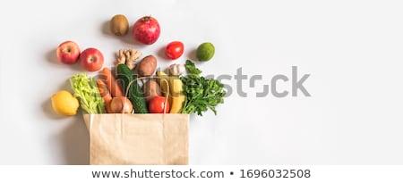 Afbeelding ingesteld vers voedsel appel glas achtergrond Stockfoto © ozaiachin