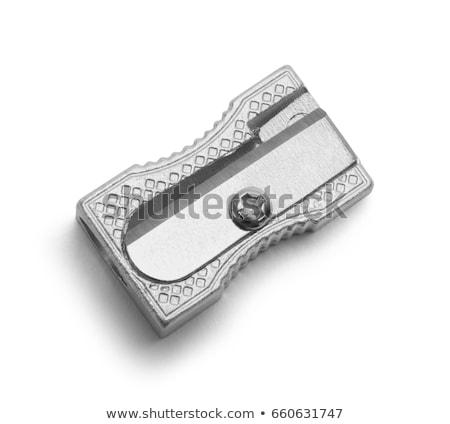 Geïsoleerd potlood puntenslijper hand kantoor achtergrond Stockfoto © Studiotrebuchet