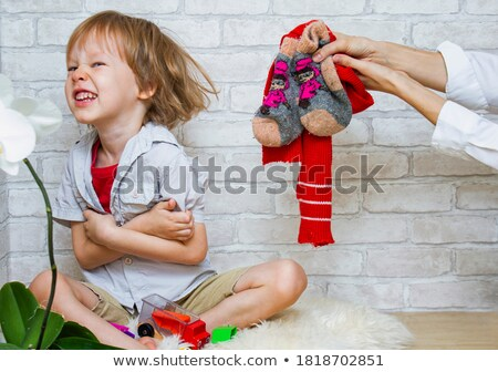Mother and son playing drafts Stock photo © photography33