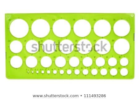 古い プラスチック ステンシル 緑 孤立した 白 ストックフォト © Taigi