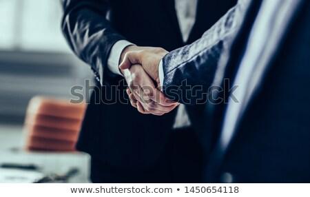 Confiável acordo negócio metal homens trabalhador Foto stock © ozaiachin