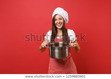 Woman with a saucepan Stock photo © photography33