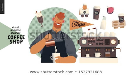 Coffee with cream and steam Stock photo © sumners