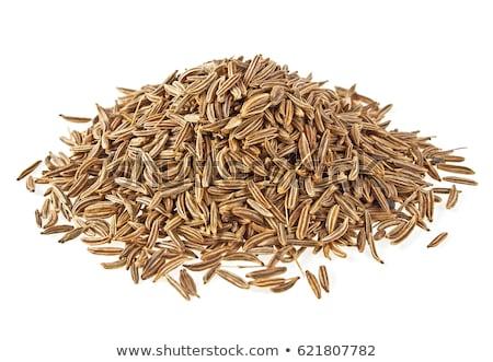 geheel · komijn · zaden · geïsoleerd · witte · Spice - stockfoto © haiderazim