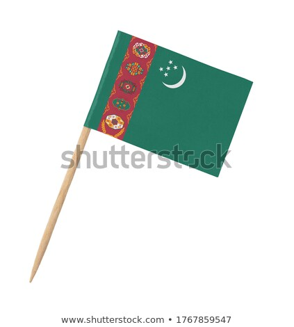 Miniature Flag of Turkmenistan (Isolated) Stock photo © bosphorus