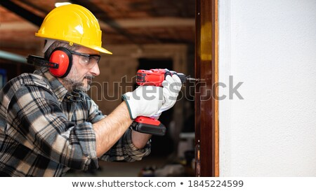 Worker with drill Stock photo © photography33