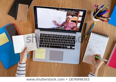 учитель · школьник · школу · компьютер · человека - Сток-фото © marinini