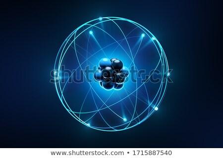 Illustré atome résumé science couleur chimiques Photo stock © shutswis
