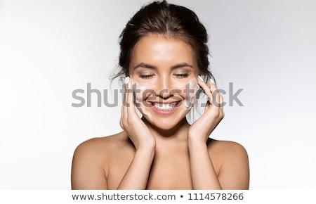 skin care woman removing makeup Stock photo © Ariwasabi