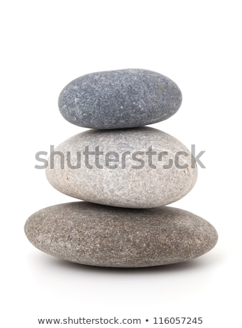 três · pedras · saldo · água · fundo · pedra - foto stock © compuinfoto
