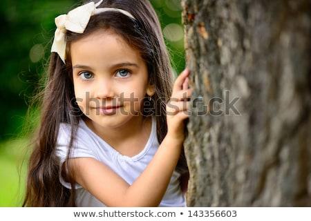 verlegen · meisje · portret · outdoor · park - stockfoto © photography33