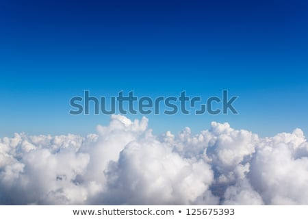 Perfecto blanco mullido celestial nubes cielo azul Foto stock © clearviewstock