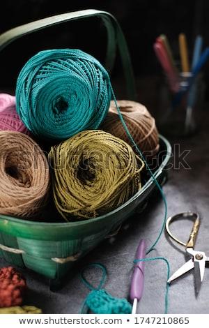 Garen naalden groene stuk creatieve Stockfoto © elly_l