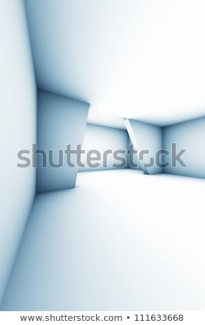 Absract Modern White Interior Room - Space 3d Illustration Stock photo © grasycho