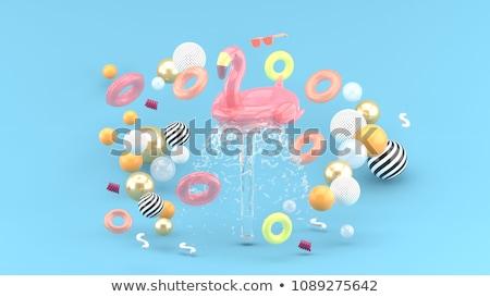 Pink Flamingo Fountain Stock photo © gabes1976