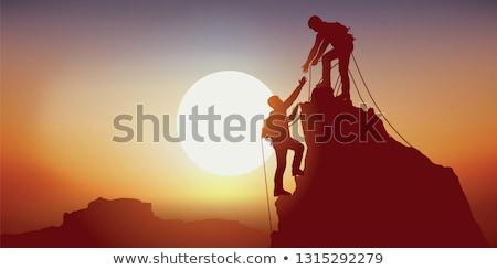 Ascent against the sun Stock photo © MojoJojoFoto