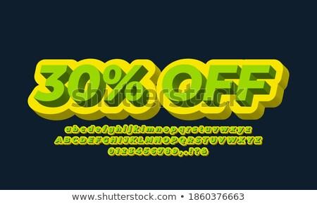 Stock fotó: 30 · százalékok · árengedmény · 3D · piros · kör