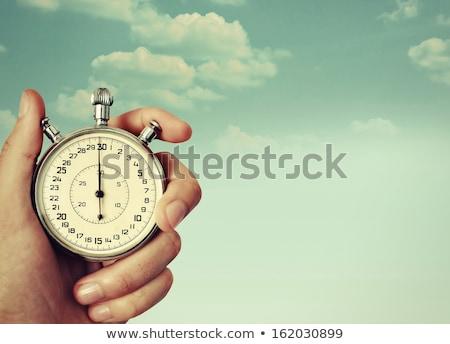 時間 開始 色 言葉 クロック 黒板 ストックフォト © Ansonstock