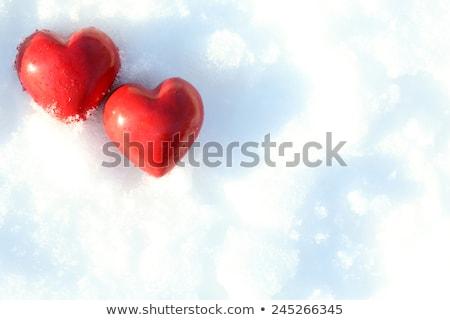 2 心 雪 書かれた 背景 にログイン ストックフォト © tepic