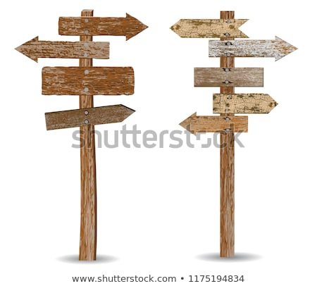 Wooden Directions Arrow Signs Stock photo © Lightsource