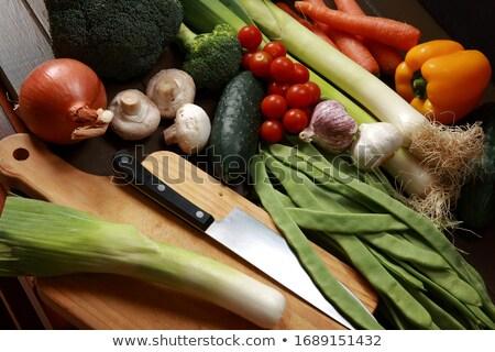 Aprított kirakat vásár zöldség Stock fotó © AlessandroZocc