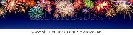 Fenséges tűzijáték éjszaka nyár égbolt tűz Stock fotó © smuki