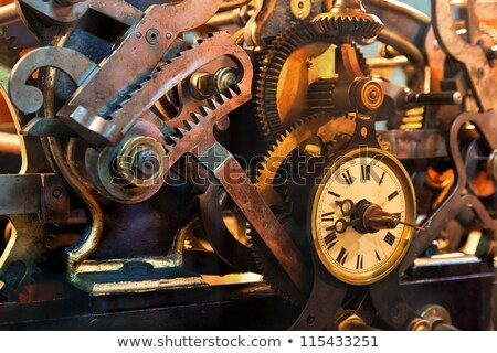 oude · zakhorloge · roestige · versnelling · binnenkant · klok - stockfoto © mikko