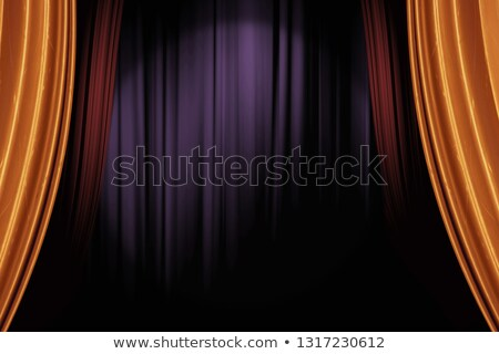 lighted up red stage curtain stock photo © vetdoctor