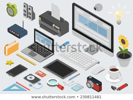 3d illustration computermuis harde schijf computer internet muis Stockfoto © kolobsek