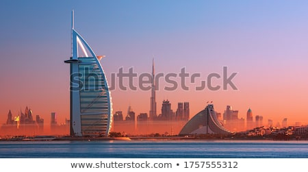 Stad panorama Dubai zwembad strand zee Stockfoto © CaptureLight