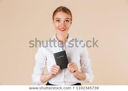 pasaporte · aislado · blanco · negocios · seguridad · viaje - foto stock © hasloo
