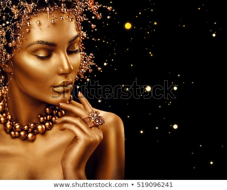 jewelry and hairstyle fashion portrait of beautiful woman with stock photo © victoria_andreas