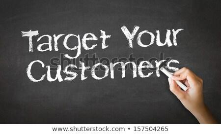 Foto stock: Objetivo · clientes · tiza · ilustración · persona · dibujo