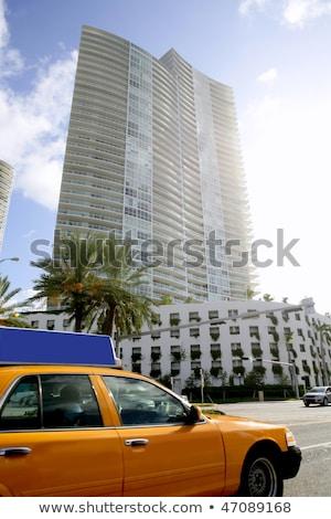 желтый такси Майами пляж Флорида зданий Сток-фото © lunamarina