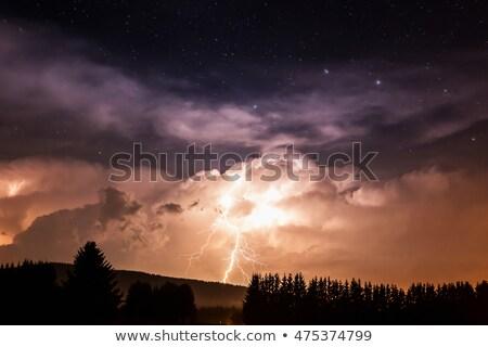 Thunder · Молния · области · облачный · небе · облака - Сток-фото © haraldmuc