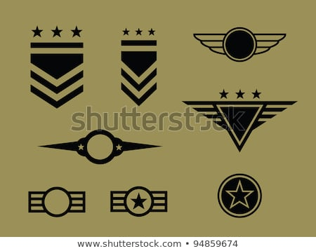 Americano general insignia clasificar placa aislado Foto stock © speedfighter