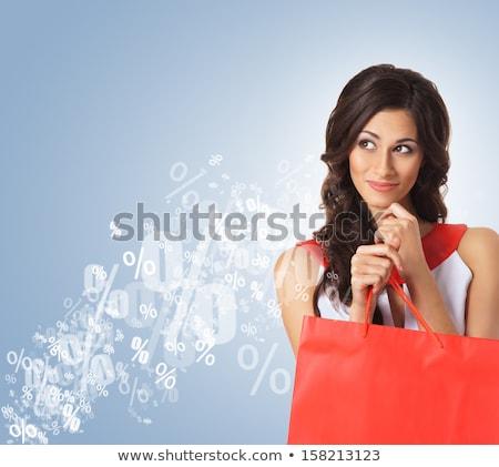 happy brunette shopper stock photo © lithian