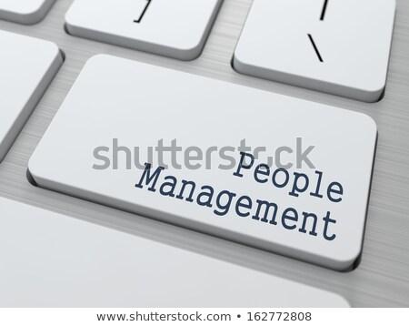White Keyboard with Outstaffing Button. Stock photo © tashatuvango