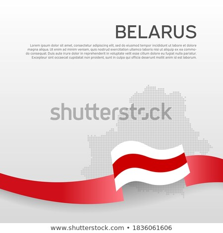 ribbon banner   belarusian flag stock photo © stockwerkdk