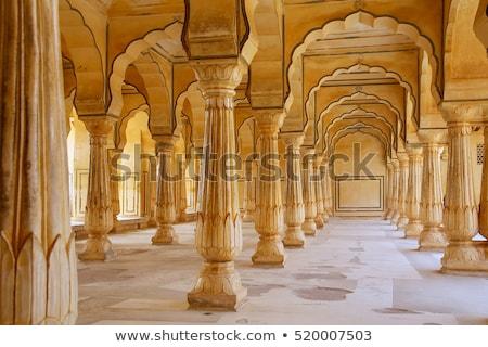 Borostyánkő erőd fenséges palota India lakás Stock fotó © faabi