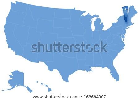 Harita Amerika Birleşik Devletleri Vermont dışarı siyasi tüm Stok fotoğraf © Istanbul2009